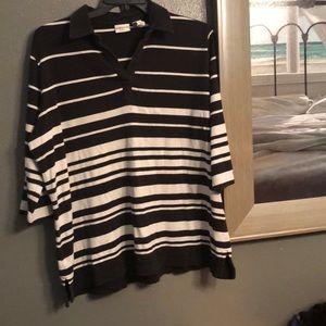 Black/Ivory Striped Top